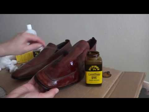 How to Dye Leather Shoes - YouTube