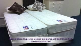 Kozee Sleep Supremo Deluxe Single Guest Bed Divan Set