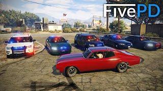 GTA 5 FivePD #6 - Cop Car Joyride! (My Run)