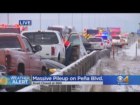 Multi-Car Crash Closes Pena Boulevard Approaching DIA