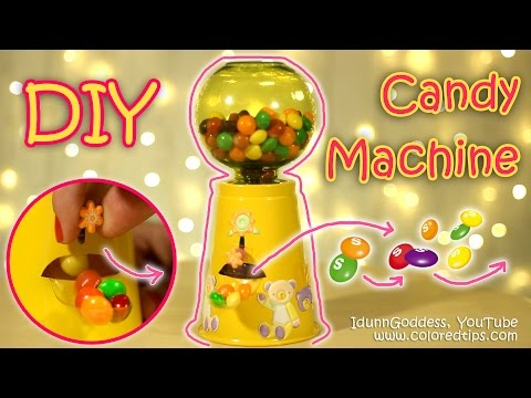 Thumbnail: DIY Functional Gumball Machine or Candy Machine - How To Make Working Candy Dispenser Tutorial