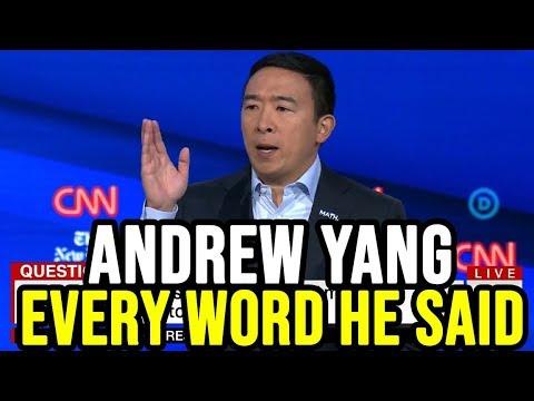Andrew Yang 4th Democratic Debate Full Highlights   Every Word He Said