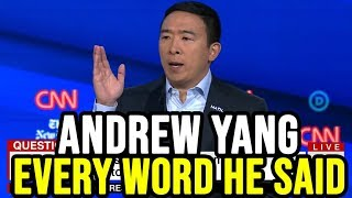 Andrew Yang 4th Democratic Debate Full Highlights | Every Word He Said