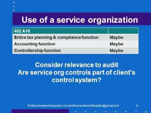 402 Service Organizations