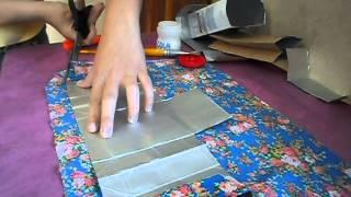 Carteirinha feita com cx de leite - Passo a Passo - Simples e fácil