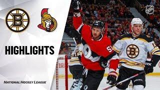 NHL Highlights | Bruins @ Senators 12/9/19