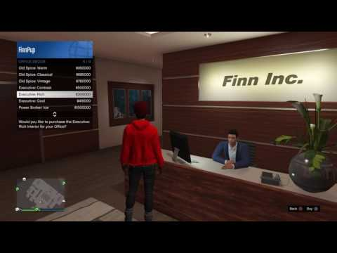 GTA 5 - CEO male assistant with different office decors