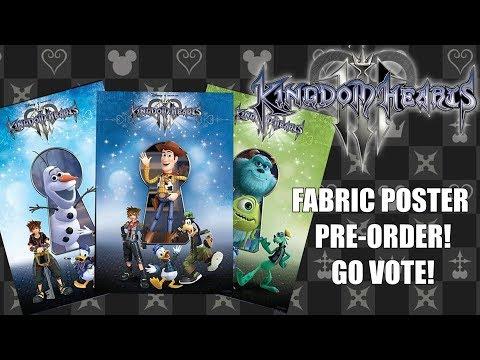 Kingdom Hearts 3 - Vote On Fabric Poster Pre-Order Bonus!