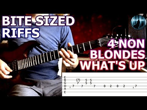 Bite Sized Riffs | 4 Non Blondes - What's Up | Lead Guitar Intro & Chords