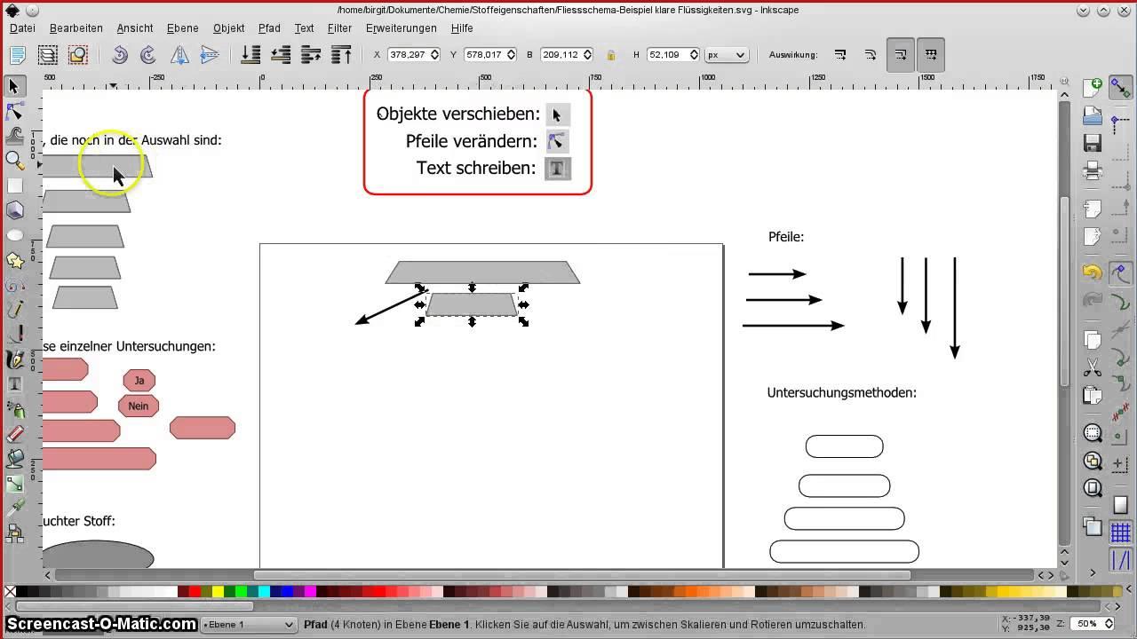 Mit Inkscape Fließschema erstellen - YouTube