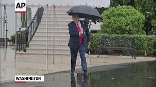 President Trump departs for Tulsa rally