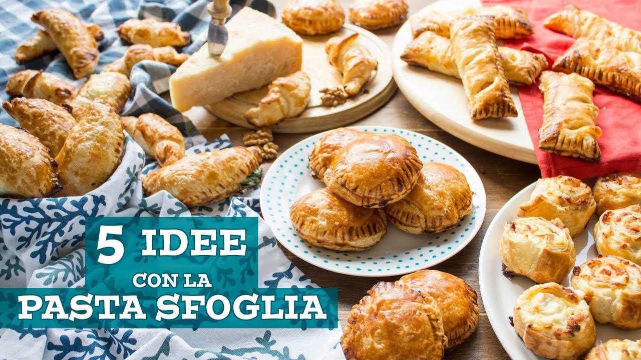 5 IDEE per ANTIPASTI con la Pasta Sfoglia  Easy Puff Pastry Recipe Ideas  55Winston55  YouTube