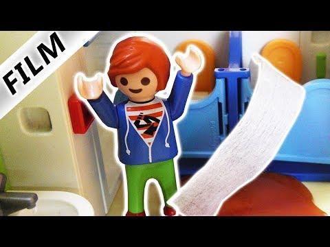 Playmobil Film deutsch   KACKE ÜBERFLUTUNG in KITA   JULIAN VERSTOPFT KLO   Familie Vogel