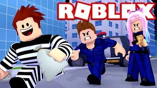 ROBLOX MAD CITY - LEAH'S FIRST DAY AS A PRISON GUARD!