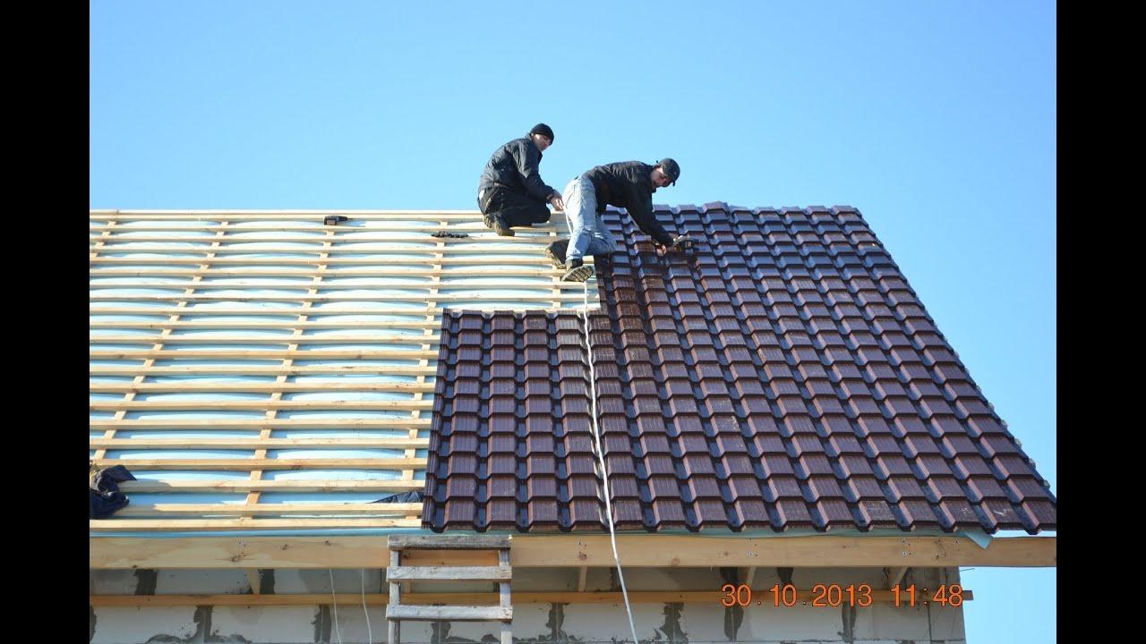 Как правильно сделать крышу из металлочерепицы фото 653