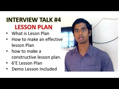 Lesson Plan | How to make an effective and constructive Lesson Plan | 6E  Model Lesson Plan