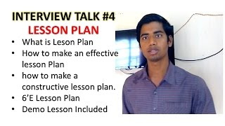 Lesson Plan | How to make an effective and constructive Lesson Plan | 6E  Model Lesson Plan thumbnail