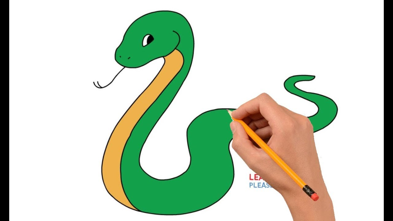 How To Draw A Snake Step By Step Easy For Kids Youtube