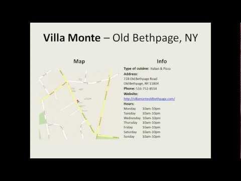 Villa Monte    Old Bethpage, NY