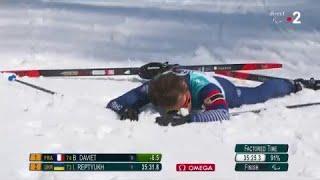 Biathlon / 12,5 km H Debout. Benjamin Daviet remporte l'or ! - Jeux Paralympiques 2018