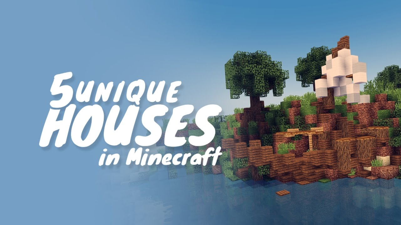 5 Unique House Designs In Minecraft Youtube