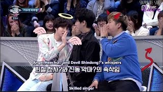 Yesung with Angel Heechul and Devil Shindong