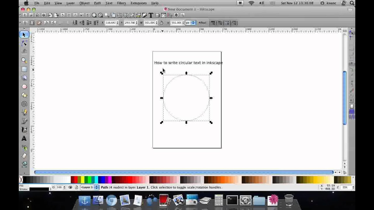 How to Curve Text in Inkscape