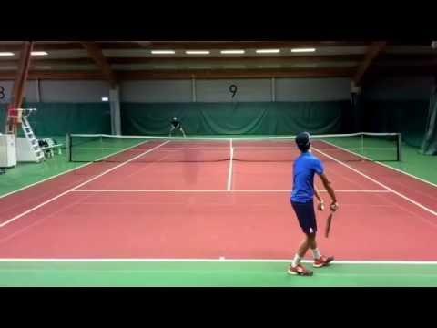 Carl Johan Prioset college tennis video.  Fall 2017