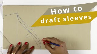 Lesson 3 -How to make basic sleeves pattern in an easy way / application of measurements