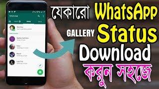 অন্যের WhatsApp Status ভিডিও Download করুন    How to Download Anyone WhatsApp Status in Bangla