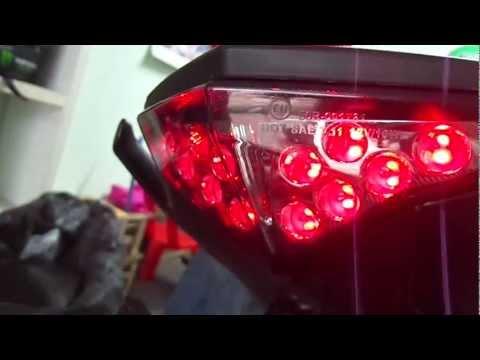 LED tail light for Kawasaki Er6n 2012 +