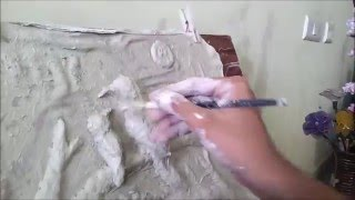 How to make an Embossed Painting with Paper Mache