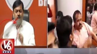 BJP Leader GVL Narasimha Rao Condemns Over Shoe Thrown On Him …