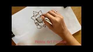 Learn how to draw simple full body ganesha mehendi tattoo tutorial 3