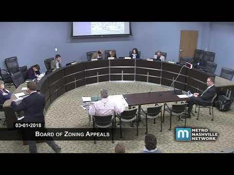 03/01/18 Zoning Appeals Board