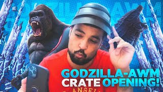 NEW CRATE OPENING  AWM GODZILLA ROAD TO 400K  - PUBG MOBILE - FM RADIO GAMING