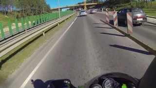 kawasaki zxr 750 h1 riding in vilnius part5