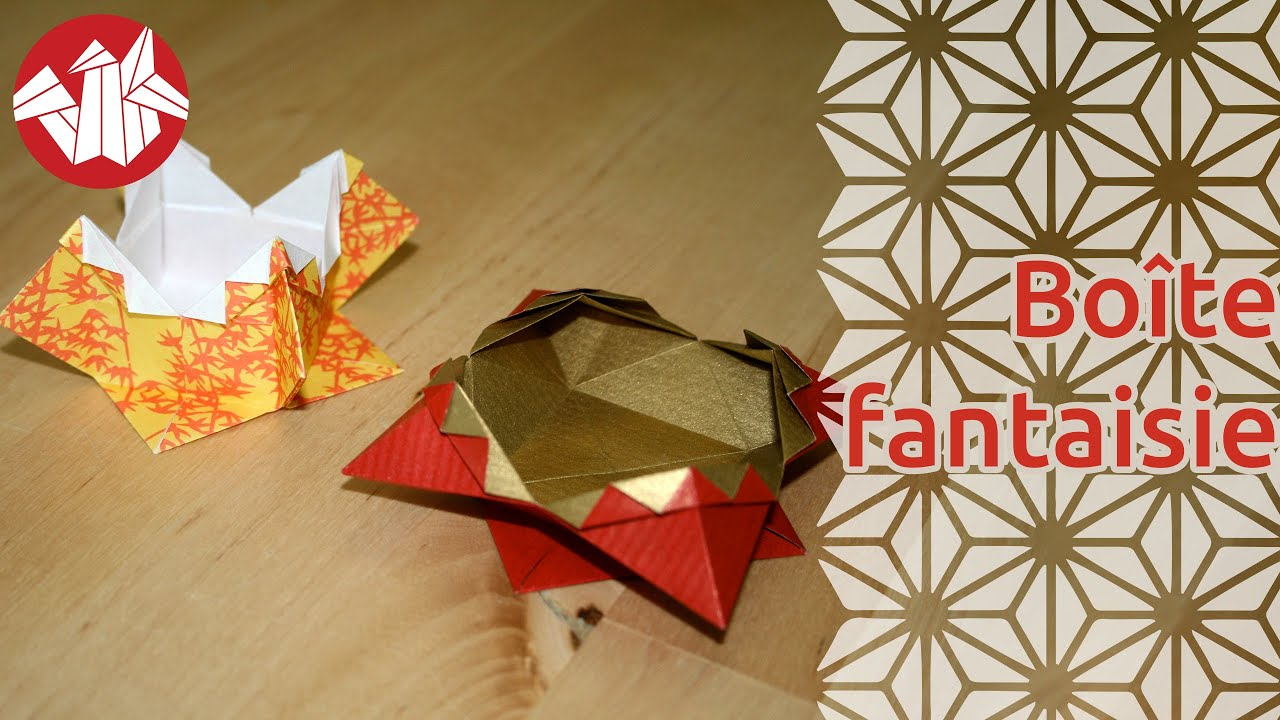 Origami - Boîte fantaisie - Fancy Box [Senbazuru] - YouTube - photo#23