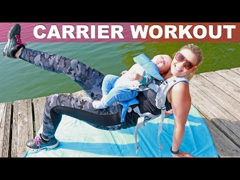 BABY WEARING WORKOUT👶🏼 Baby Carrier Fitness Exercises
