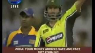 shahid AFRIDI 36 runs from 1 over vs Sri Lanka