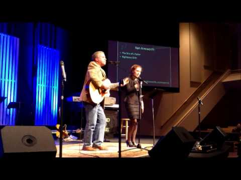 Ken Ainsworth with Jessica Rogers at the Flathead Gospel Music Festival
