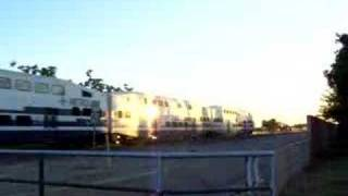metrolink train going through fontana california