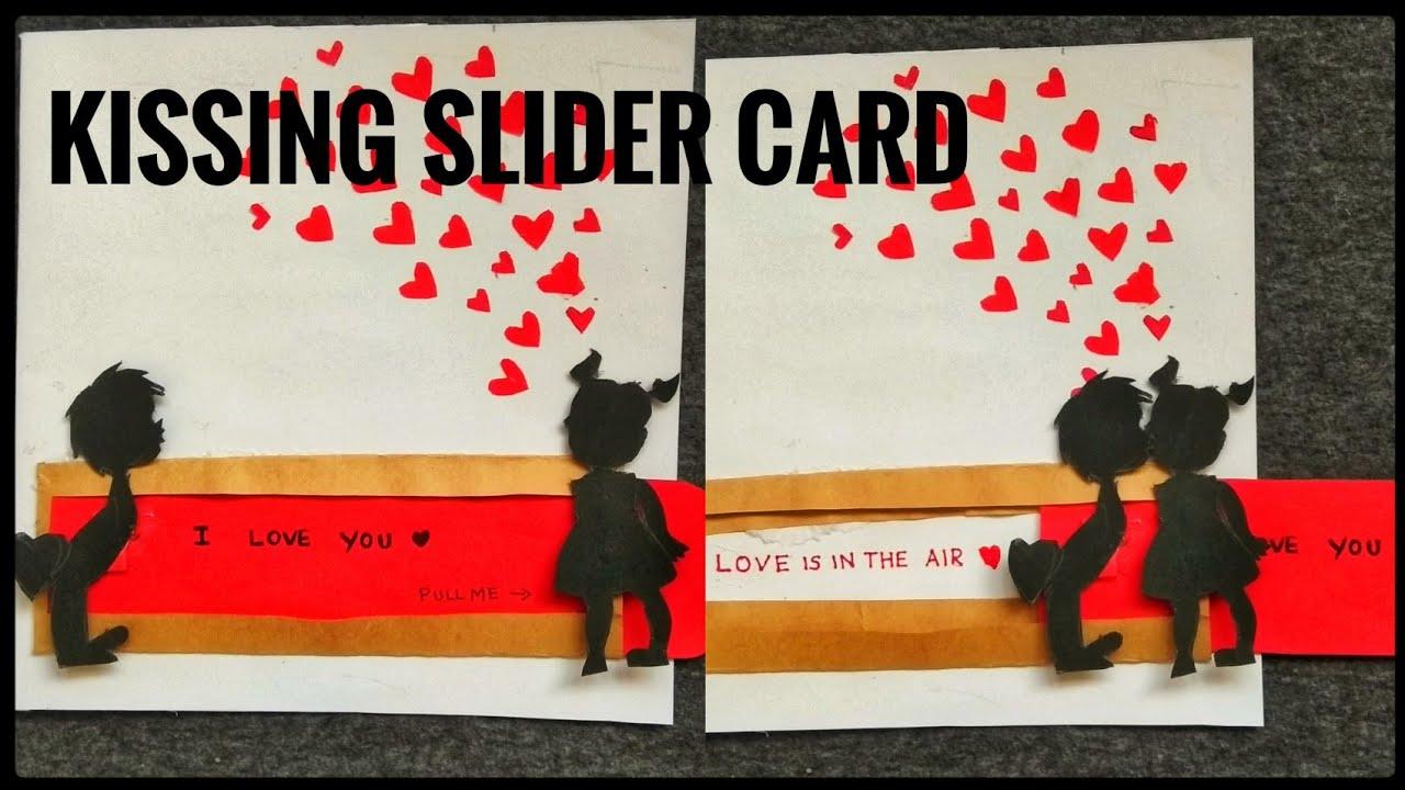 Kissing Slider Card Wedding Anniversary Handmade Card Greeting Card For Boyfr Birthday Cards For Girlfriend Creative Birthday Cards Anniversary Cards Handmade