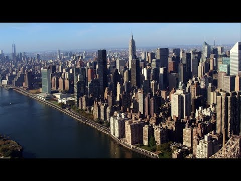 DJI LIC Long Island City and East Side Manhattan footage.
