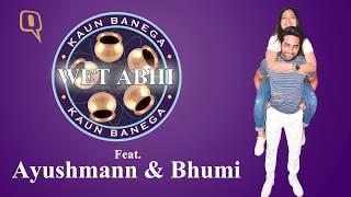 """Shubh mangal saavdhan's ayushmann khurrana & bhumi pednekar play kaun banega """"wet"""" abhi"""