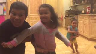 Nothing like a little sibling rivalry to Jackson 5's Blame It On The Boogie