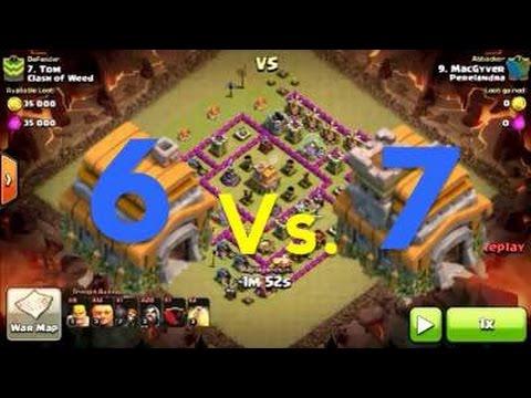 TH 6 Vs TH 7 War Attack!