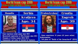 #5-1. HoMM3. World team cup 2018. Huanito (Dungeon, Serbia) vs ProtosArchon (Inferno, Croatia). JC