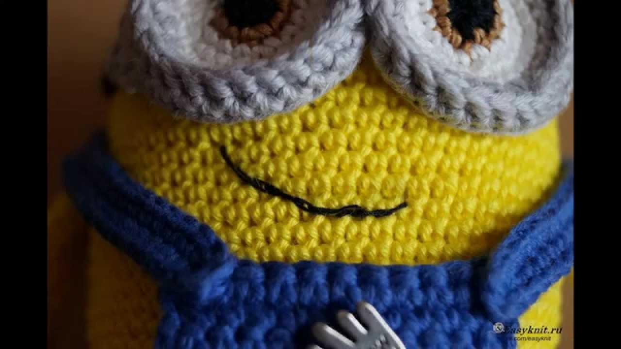 Миньон Боб вязаный крючком. Minion Bob crochet. - YouTube