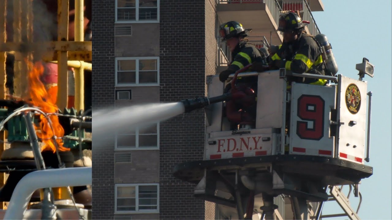 FDNY Battles All-Hands FIRE at NYC Power Plant  [ Manhattan 10-75 Box 467 ]
